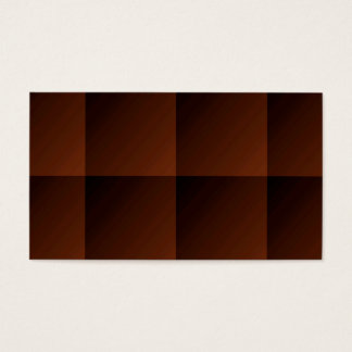 Russet Brown Flannel Check Look Squares Business Card