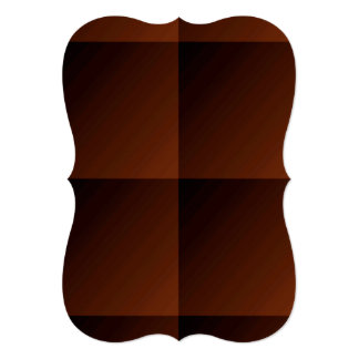 Russet Brown Flannel Check Look Squares Card
