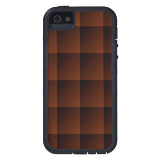 Russet Brown Flannel Check Look Squares Case For iPhone SE/5/5s