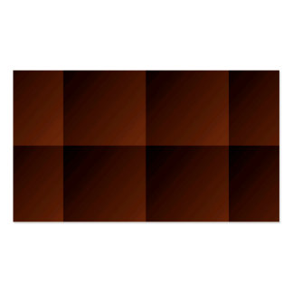 Russet Brown Flannel Check Look Squares Double-Sided Standard Business Cards (Pack Of 100)