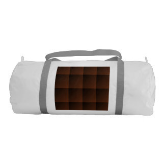 Russet Brown Flannel Check Look Squares Gym Bag