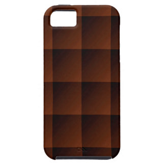 Russet Brown Flannel Check Look Squares iPhone SE/5/5s Case