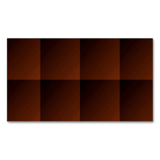 Russet Brown Flannel Check Look Squares Magnetic Business Card