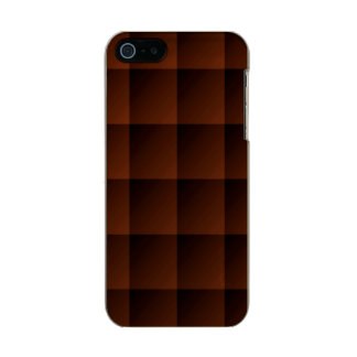 Russet Brown Flannel Check Look Squares Metallic iPhone SE/5/5s Case