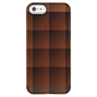 Russet Brown Flannel Check Look Squares Permafrost iPhone SE/5/5s Case