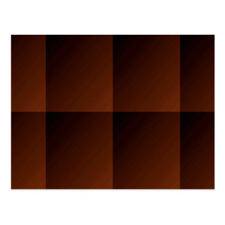 Russet Brown Flannel Check Look Squares Postcard
