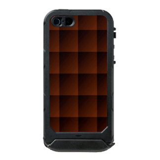 Russet Brown Flannel Check Look Squares Waterproof Case For iPhone SE/5/5s