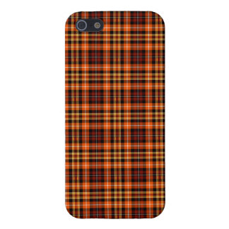 Russet Brown, Orange and Yellow Plaid Case For iPhone SE/5/5s