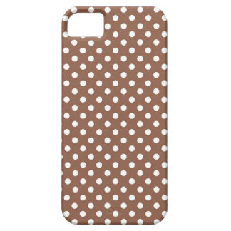 Russet Brown Small Polka Dot iPhone 5 Case