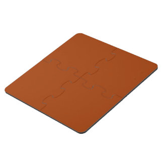 Russet colored puzzle coaster