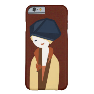 Russet fox and girl barely there iPhone 6 case