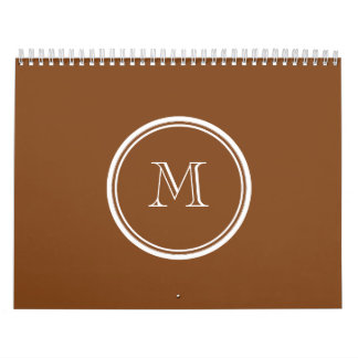 Russet High End Colored Personalized Calendar