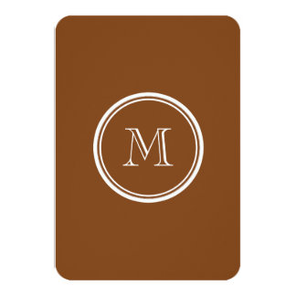 Russet High End Colored Personalized Card