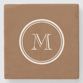 Russet High End Colored Personalized Stone Beverage Coaster