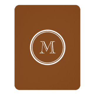 Russet High End Colored Personalized 4.25x5.5 Paper Invitation Card