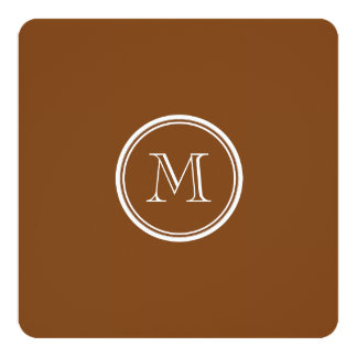 Russet High End Colored Personalized 5.25x5.25 Square Paper Invitation Card