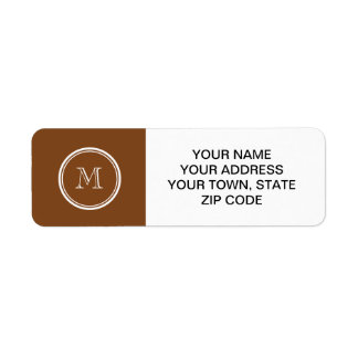 Russet High End Colored Personalized Label