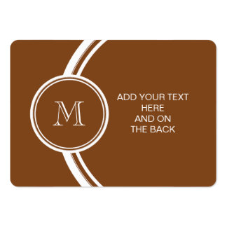 Russet High End Colored Personalized Large Business Cards (Pack Of 100)