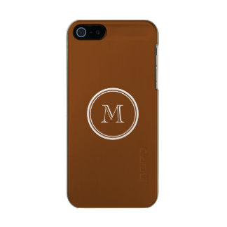 Russet High End Colored Personalized Metallic iPhone SE/5/5s Case