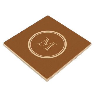 Russet High End Colored Personalized Maple Wood Coaster
