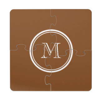 Russet High End Colored Personalized Puzzle Coaster