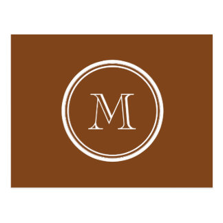 Russet High End Colored Personalized Postcard