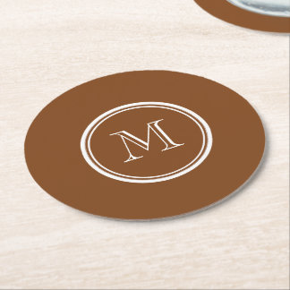 Russet High End Colored Personalized Round Paper Coaster