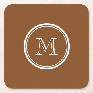 Russet High End Colored Personalized Square Paper Coaster