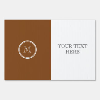 Russet High End Colored Personalized Sign