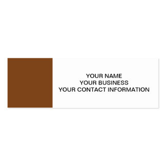 Russet High End Solid Colored Double-Sided Mini Business Cards (Pack Of 20)