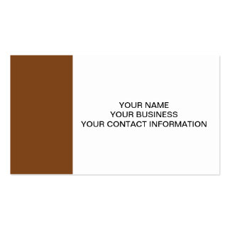 Russet High End Solid Colored Double-Sided Standard Business Cards (Pack Of 100)