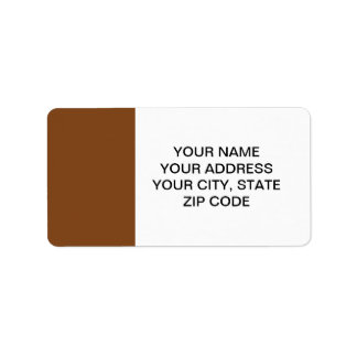 Russet High End Solid Colored Label