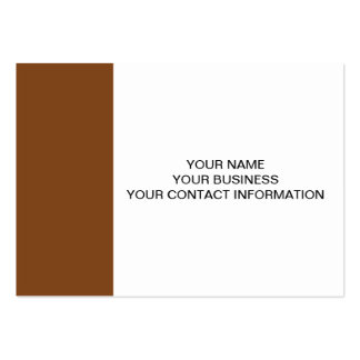 Russet High End Solid Colored Large Business Cards (Pack Of 100)
