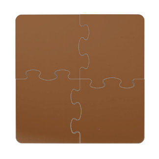 Russet High End Solid Colored Puzzle Coaster