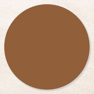 Russet High End Solid Colored Round Paper Coaster