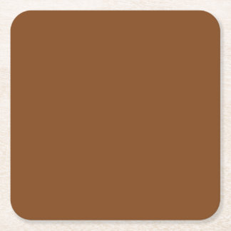 Russet High End Solid Colored Square Paper Coaster