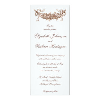 Russet Swag Romantic Wedding Invitation