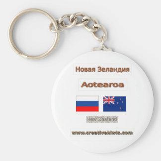 Russia, Россия, Новая Зеландия, New Zealand Keychain