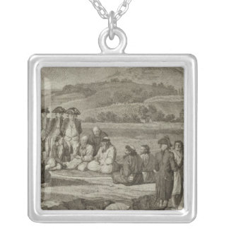 Russia 9 silver plated necklace