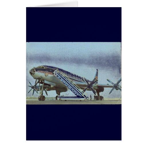 RUSSIA Aeroflot Tu 114 AIRLINER Card