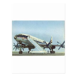 RUSSIA Aeroflot Tu 114 AIRLINER Postcard