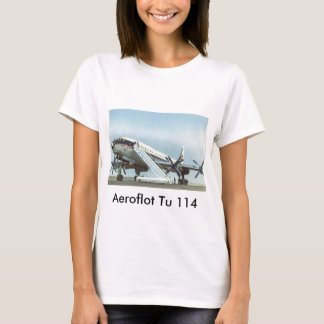 RUSSIA Aeroflot Tu 114 AIRLINER T-Shirt