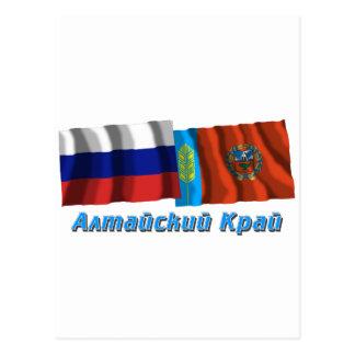 Russia and Altai Krai Postcard