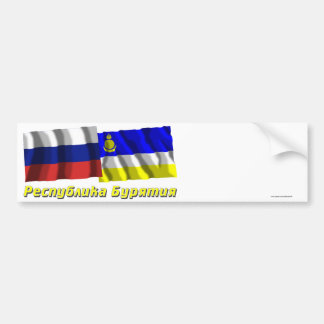 Russia and Buryat Republic Bumper Sticker