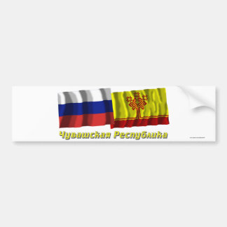 Russia and Chuvash Republic Bumper Stickers
