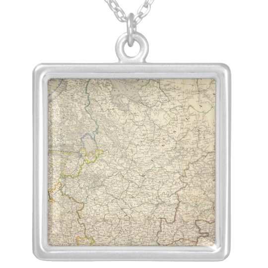 Russia and Europe 5 Silver Plated Necklace