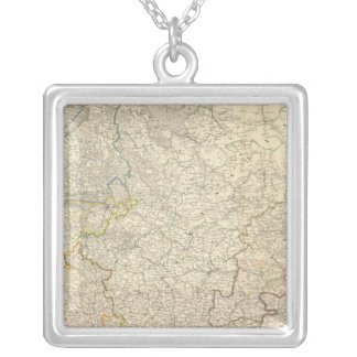 Russia and Europe 5 Square Pendant Necklace
