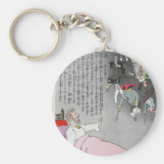 Russia and Japan circa 1904 Basic Round Button Keychain
