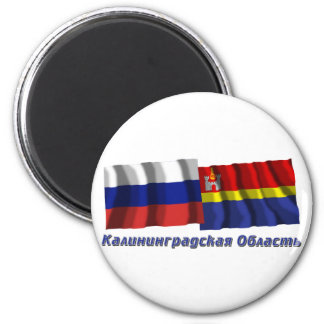 Russia and Kaliningrad Oblast 2 Inch Round Magnet