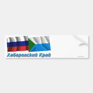 Russia and Khabarovsk Krai Car Bumper Sticker
